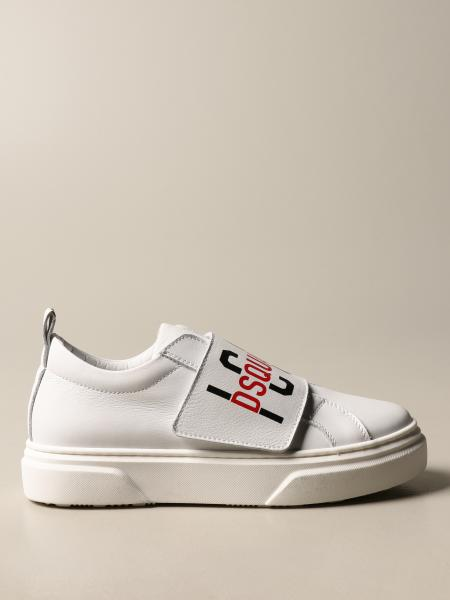 Dsquared2 Junior kids: Dsquared2 Junior sneakers in leather with pull tab