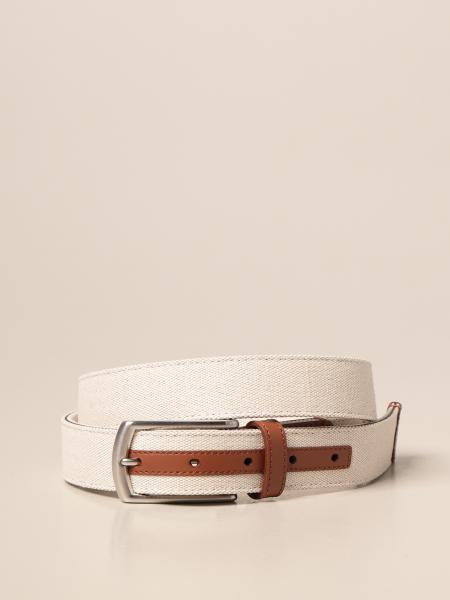 Ermenegildo Zegna belt in cotton and calfskin