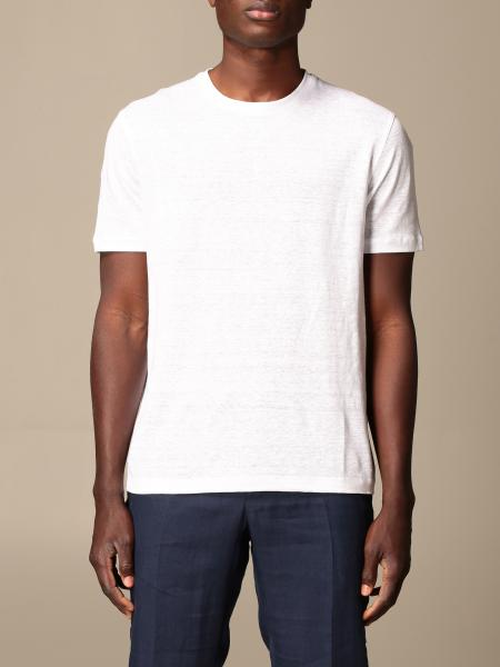 Ermenegildo Zegna T-shirt in pure linen