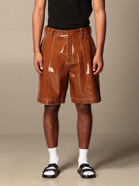 Gcds Bermuda shorts in shiny pvc with stitching