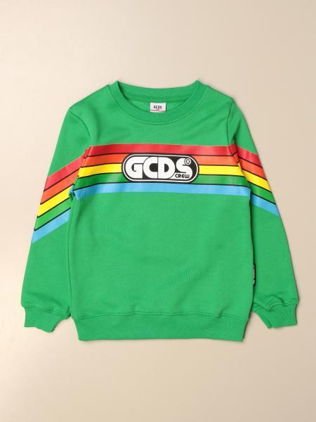 Gcds crewneck sweatshirt in cotton with logo