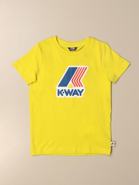 T-shirt K-way in cotone con stampa logo