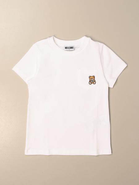 Moschino Kid cotton T-shirt with mini teddy