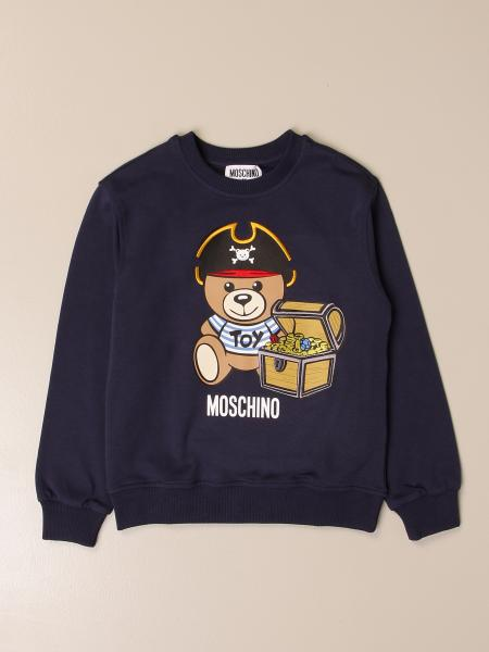 Moschino Kid crewneck sweatshirt with big pirate teddy