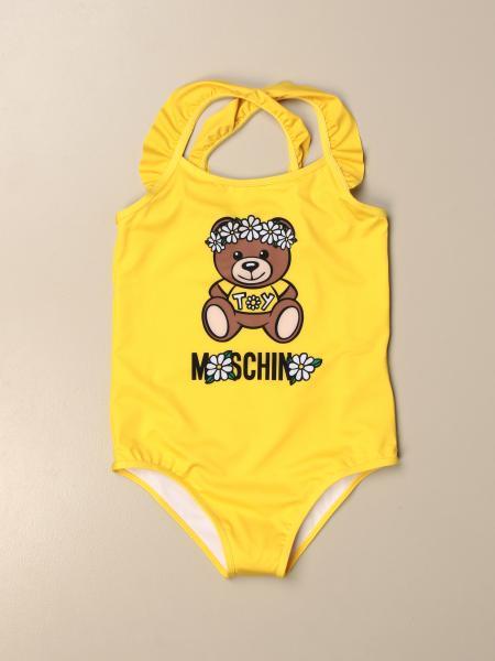 Moschino Kid one-piece swimsuit with big Teddy flower