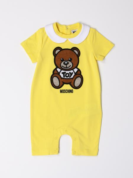 Moschino Baby short onesie with big teddy