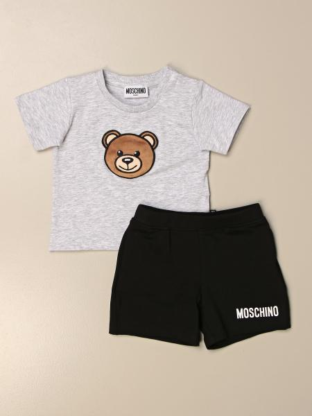 Moschino Baby t-shirt + bermuda shorts set in cotton with teddy