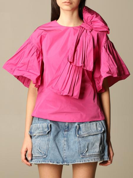 Red Valentino: Red Valentino top in taffeta with ruffles