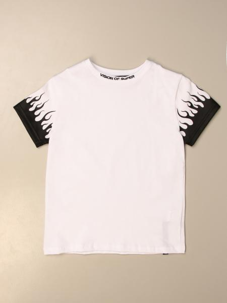 Vision of Super cotton t-shirt with flames