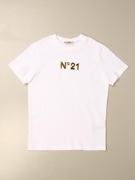 T-shirt N°21 in cotone con logo