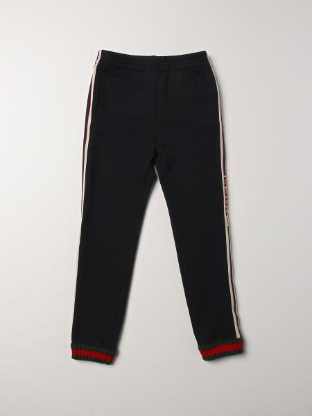 Gucci jogging pants with striped bands