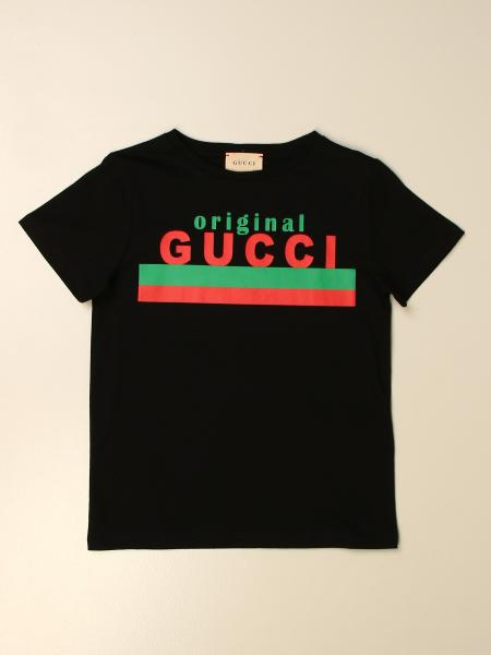 Gucci kids: Gucci cotton T-shirt with Original logo