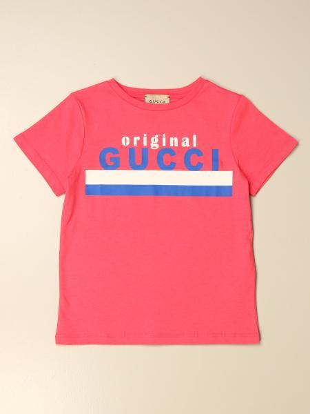 Gucci 儿童: Gucci 原创Logo棉质T恤
