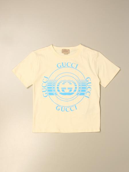 Gucci kids: Gucci cotton t-shirt with vintage logo