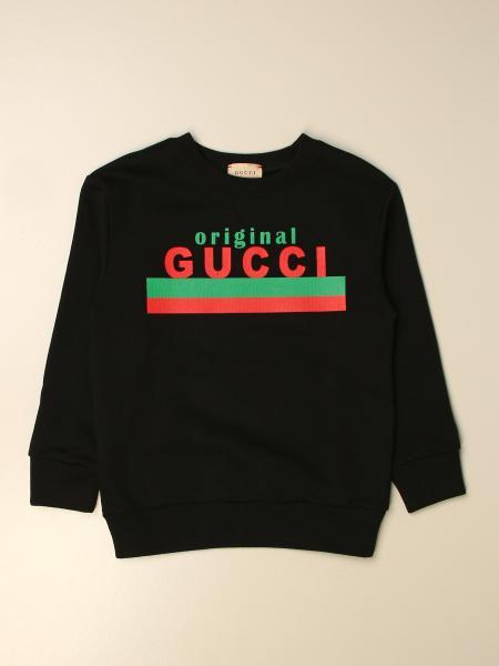 Gucci kids: Gucci crewneck sweatshirt in cotton with Original logo