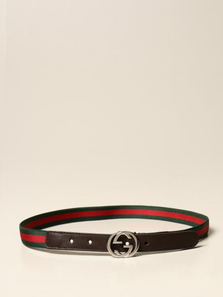 Gucci kids: Gucci belt with Web ribbon
