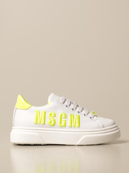 Sneakers Msgm Kids in pelle con logo
