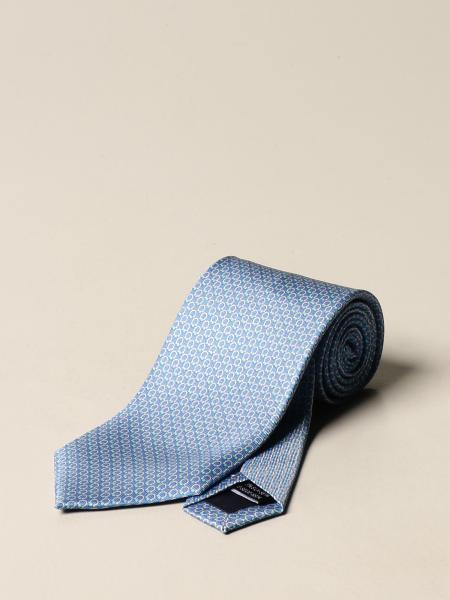 Salvatore Ferragamo silk tie with Gancini pattern