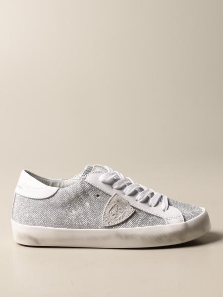 Sneakers Paris Philippe Model in pelle e glitter