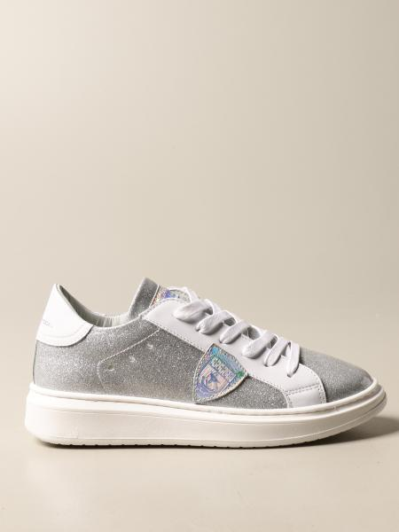 Sneakers Temple Philippe Model in pelle e glitter