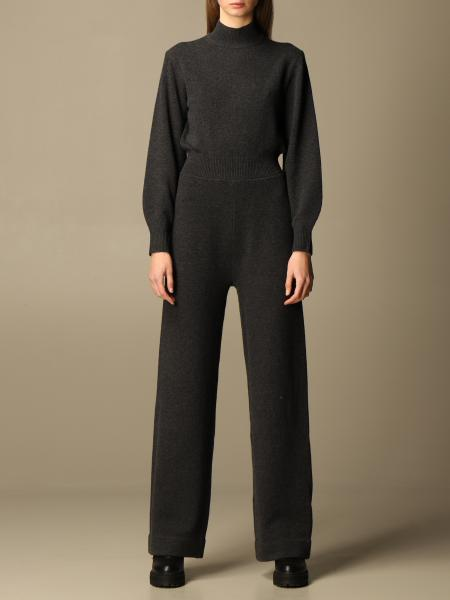 Theory: Theory long jumpsuit in wool and cashmere