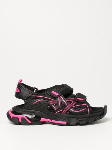Sandalo Strap Black and Pink Track Balenciaga