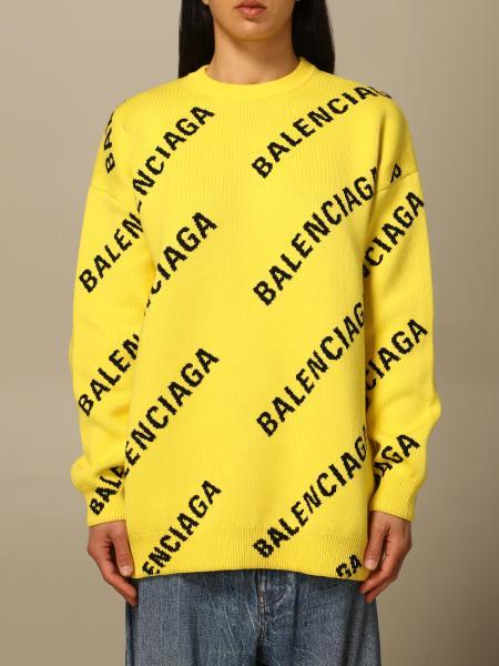 Balenciaga: Pullover over Balenciaga con logo all over