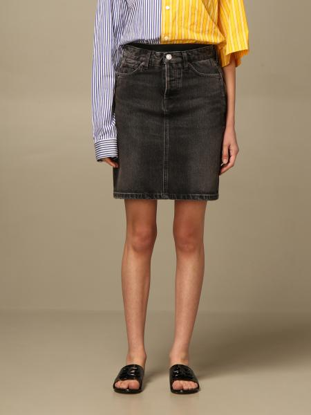 Balenciaga: Gonna di jeans Balenciaga
