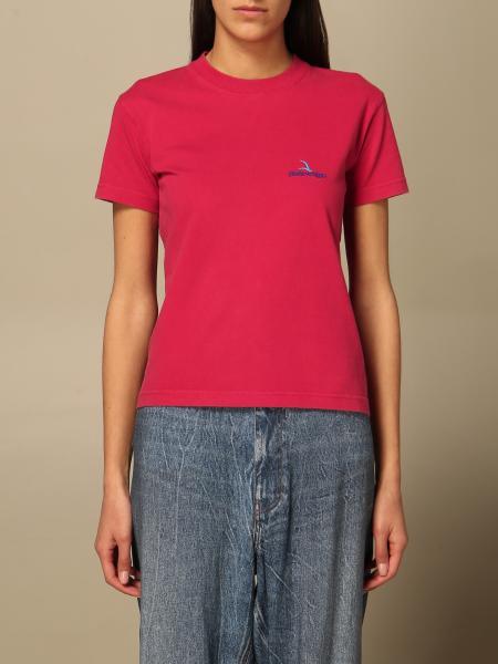 Balenciaga: T-shirt Balenciaga in cotone con logo