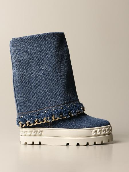 Casadei: Fusbet Casadei denim boot with sneakers