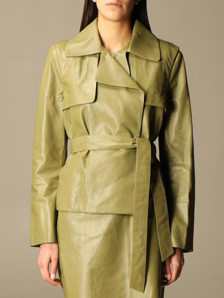 Federica Tosi leather jacket with removable sleeves