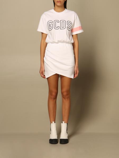 Gcds women: Gcds cotton dress with big logo