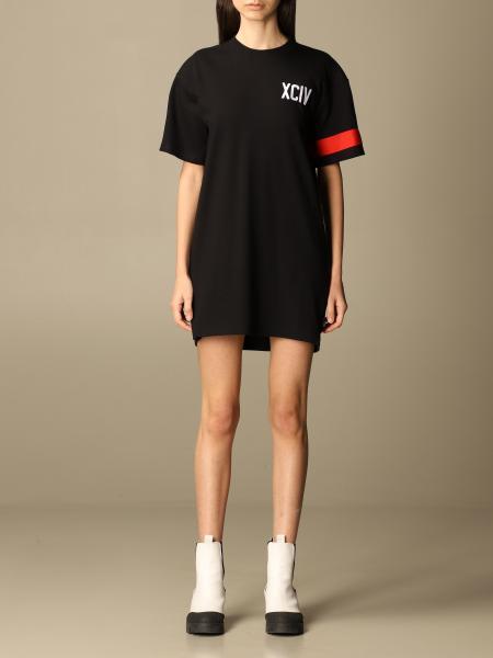 Gcds women: Gcds t-shirt dress with big logo