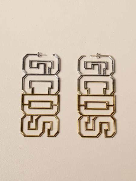 Gcds women: Gcds earrings with big shaded metal logo