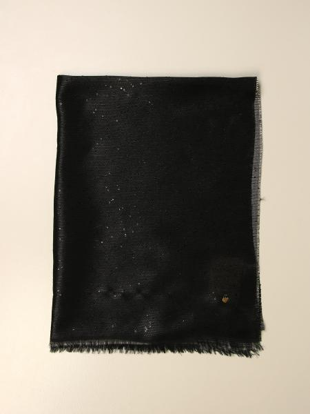 Twin-set scarf with micro sequins