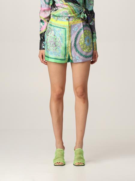 Shorts Versace in seta stampata