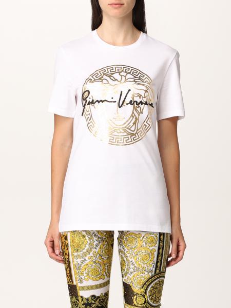 T-shirt Versace con testa di medusa laminata