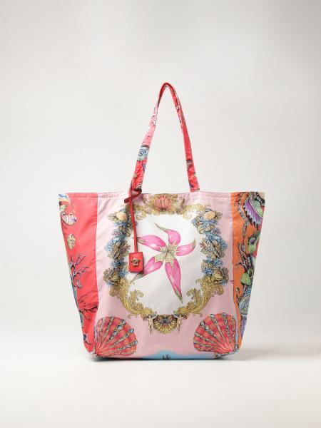 Versace shopping bag in technical fabric with Trésor de la Mer pattern