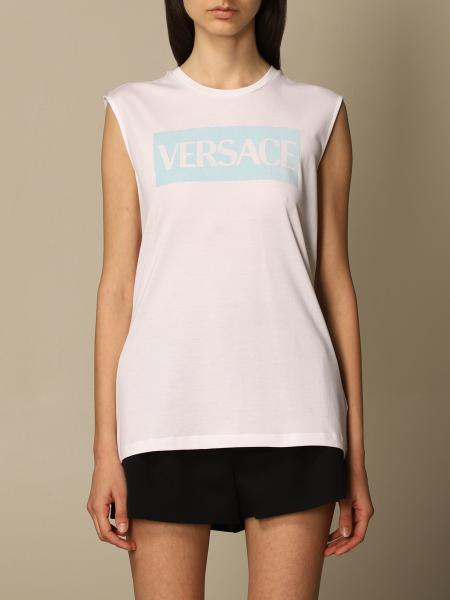 T-shirt Versace in jersey con logo stampato
