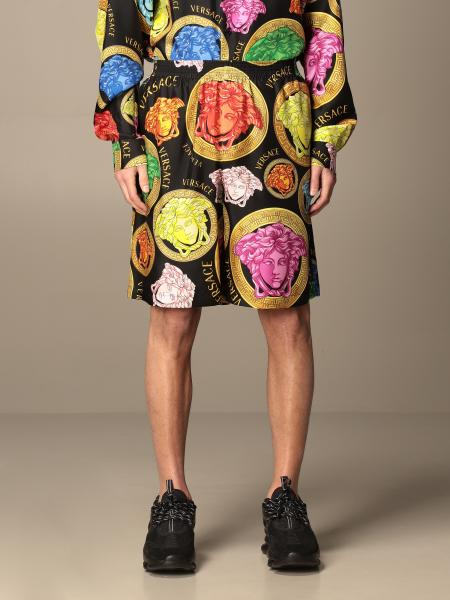 Versace jogging Bermuda shorts with Meduse print