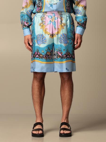 Versace shorts in Trésor de la Mer patterned silk