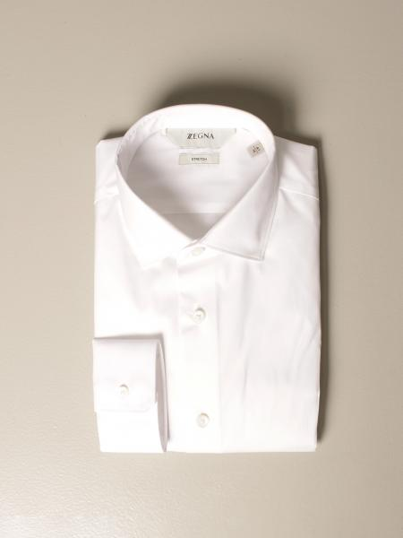 Z Zegna shirt in cotton blend with French collar