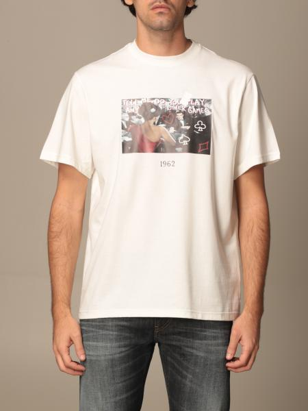 Throwback: Throwback cotton T-shirt with poker print
