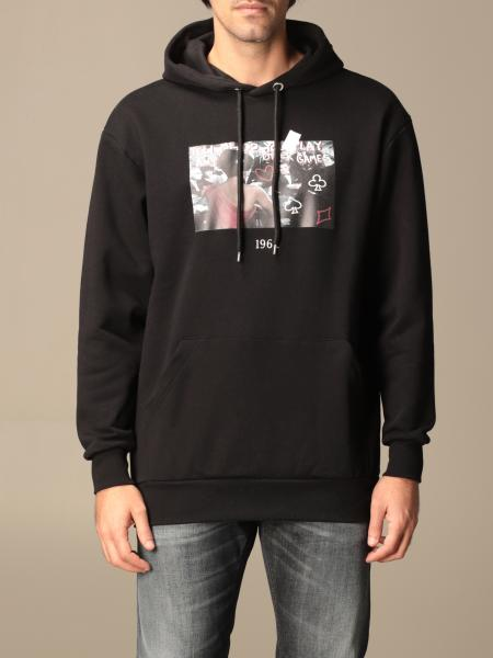Throwback: Throwback cotton sweatshirt with poker print