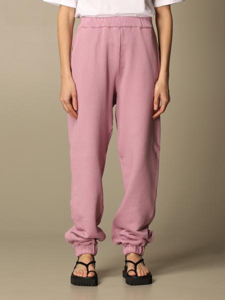 The Attico: The Attico jogging trousers in cotton with logo