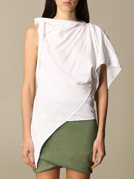 The Attico: The Attico t-shirt in draped cotton