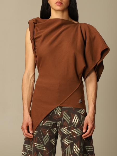 The Attico: Life at Large Capsule The Attico one-shoulder top in draped fabric