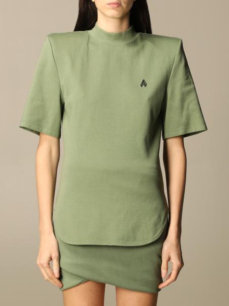 The Attico: Tessa The Attico T-shirt in cotton with maxi shoulders