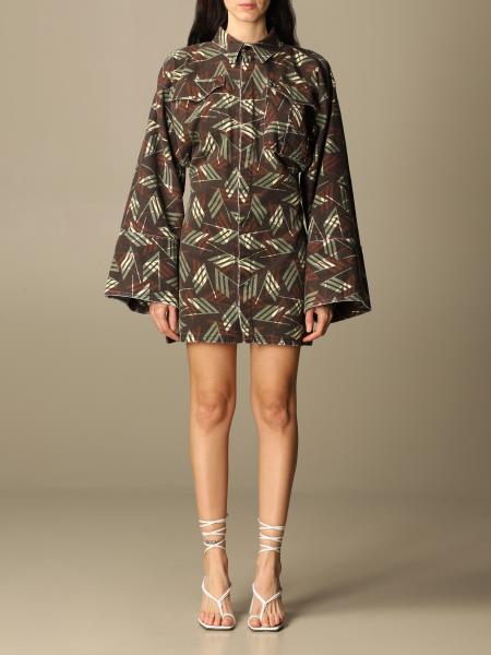 The Attico: Dakota The Attico dress in patterned cotton