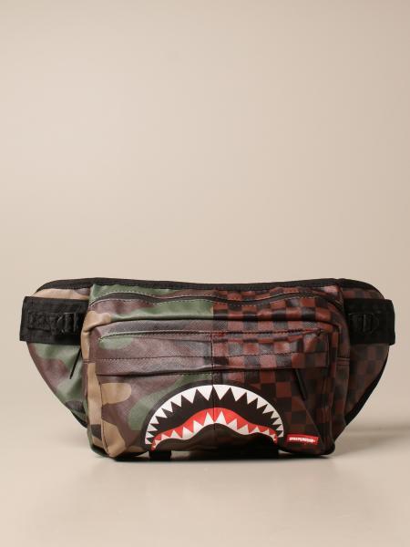 Sprayground belt bag in vegan leather with shark print